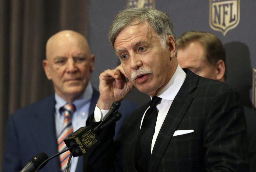 Savior or profiteer? St. Louis Rams owner Stan Kroenke, after gaining NFL permission to relocate his team to Los Angeles.
