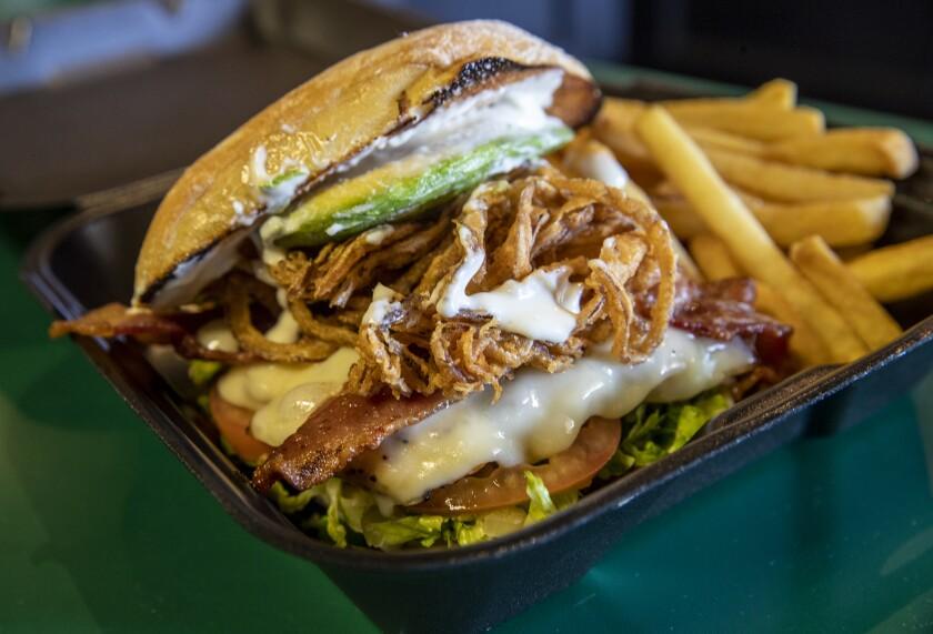 The Yorba Linda Chicken Sandwich of Placentia from Kelly's Korner Tavern.