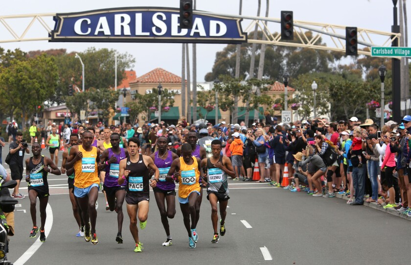 Runners will take to the streets Sunday for the annual Carlsbad 5000.