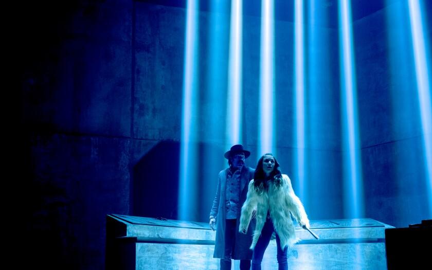 "Tim Rozon and Dominique Provost-Chalkley in ""Wynonna Earp"""