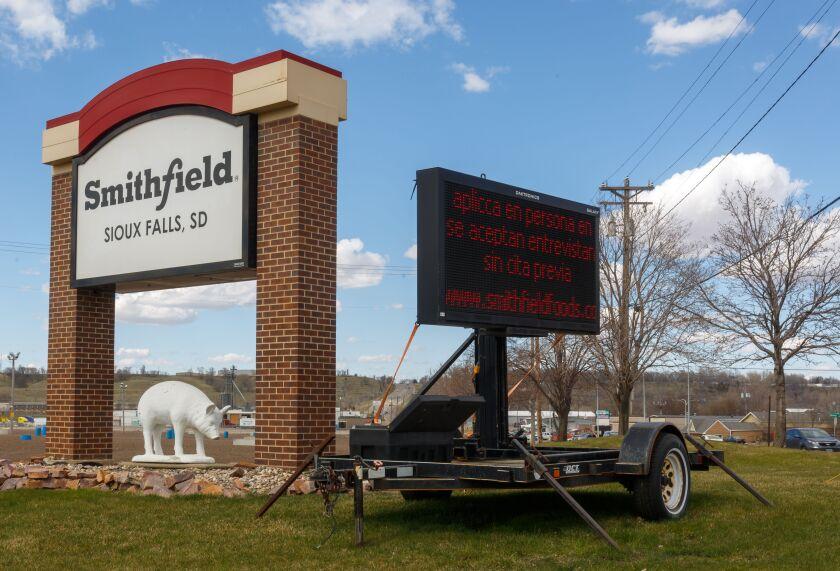 Smithfield Foods pork processing plant in South Dakota