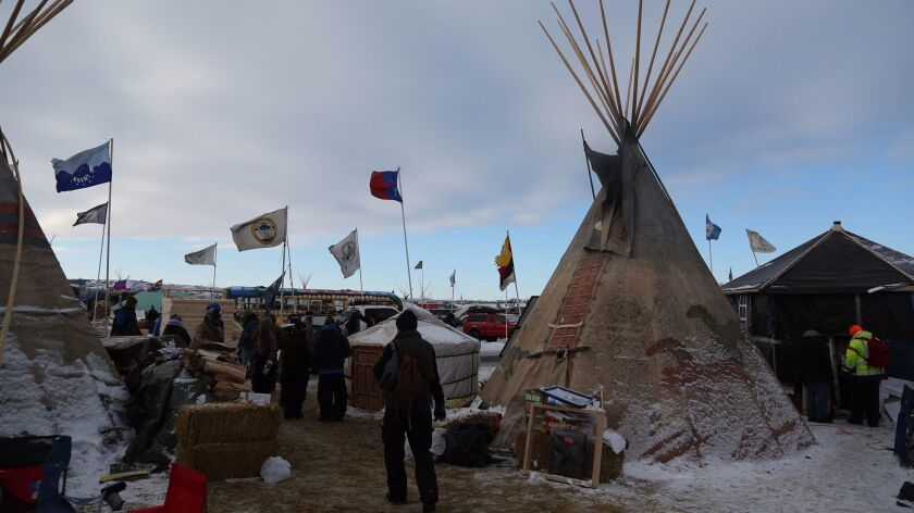 Thousands of Native Americans, veterans and environmentalists created an encampment in rural North Dakota to protest the proposed Dakota Access oil pipeline.