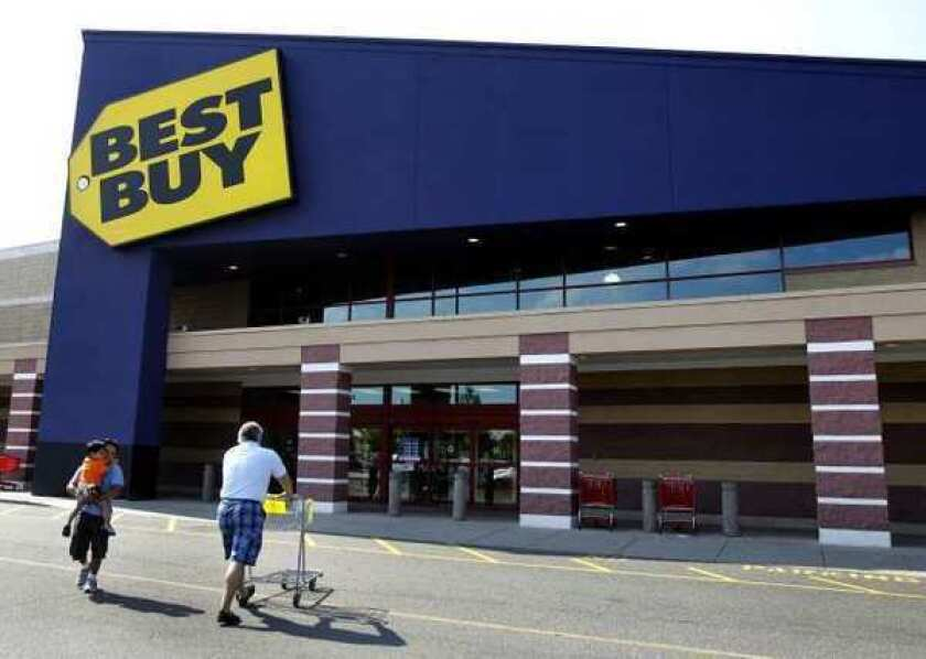 Best Buy Co. is reporting a 91% drop in net income during the second quarter.