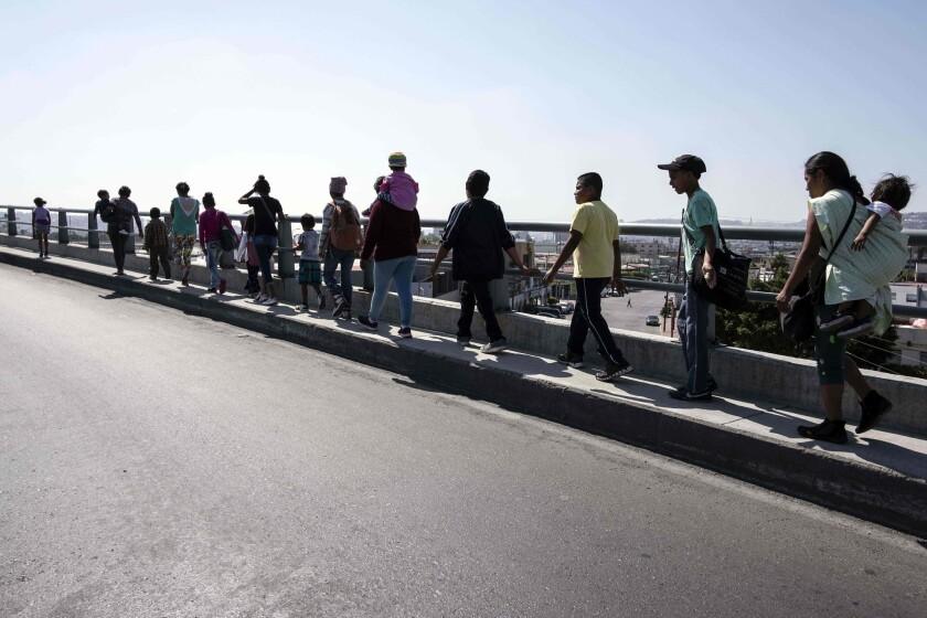 Caravan of asylum seekers