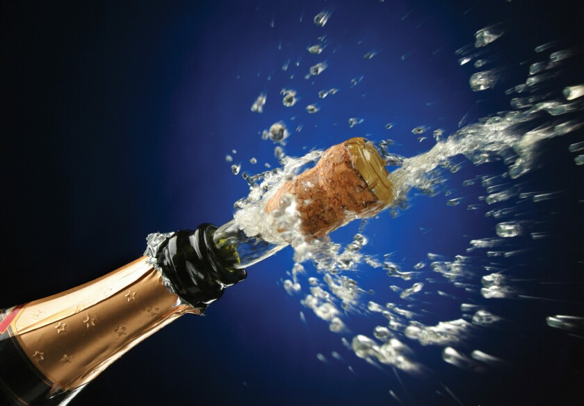Eye experts warn that a Champagne cork can be launched at nearly 50 mph.