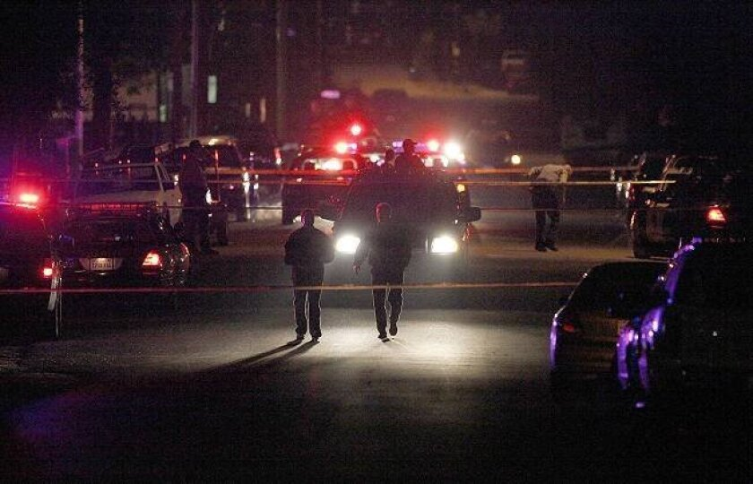 This was the scene where a sheriff's deputy reportedly shot a man in an unincorporated area of El Cajon Thursday night.