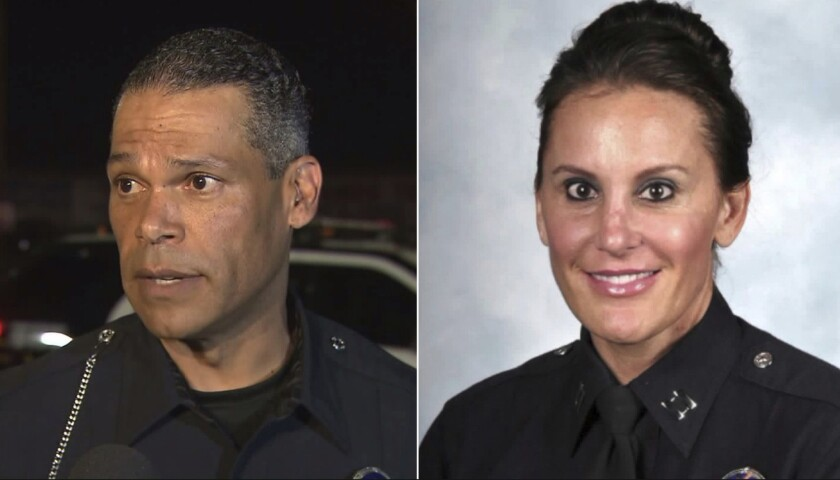 LAPD Sgt. James Kelly and former Cmdr. Nicole Mehringer were charged in connection with an alcohol-related incident in Glendale.