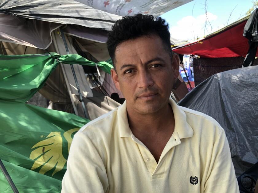 Guatemalan asylum seeker Jose Torres at the Reynosa camp
