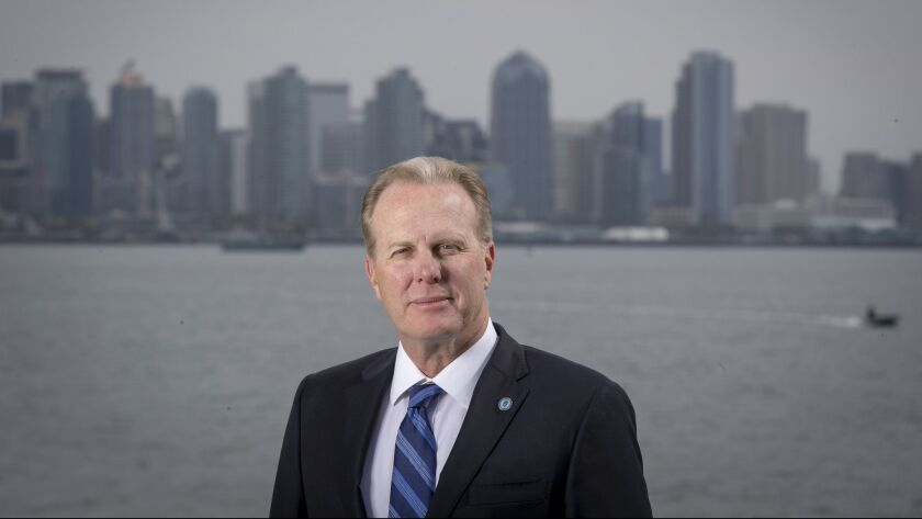 SAN DIEGO, CALIF. -- WEDNESDAY, JANUARY 30, 2019: San Diego Mayor Kevin Faulconer is authoring many