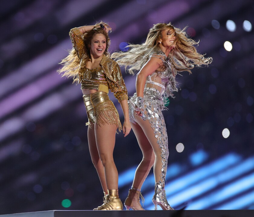 Shakira and Jennifer Lopez