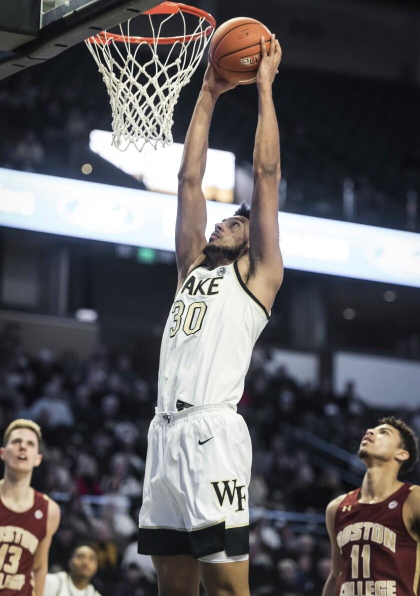 Boston College Wake Forest Basketball