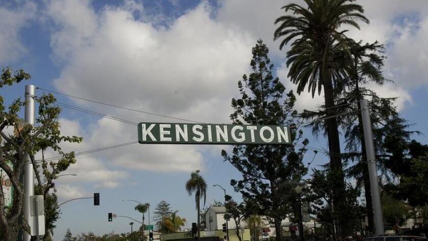 The Kensington sign on Adams Avenue is iconic of the neighborhood. (Earnie Grafton)
