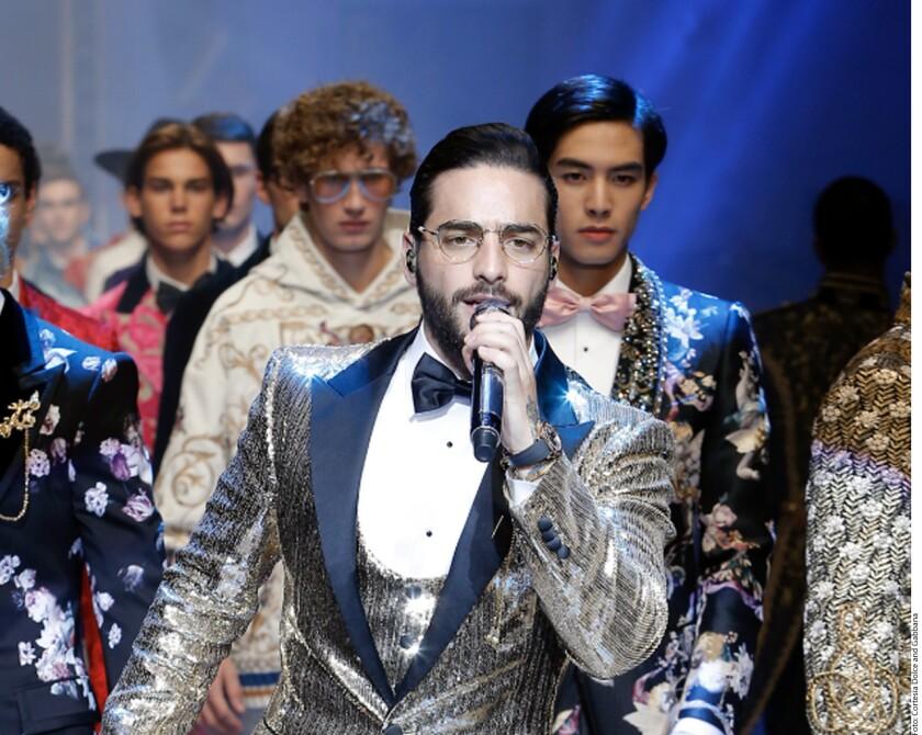 Maluma presente ela Semana de la Moda en Milán