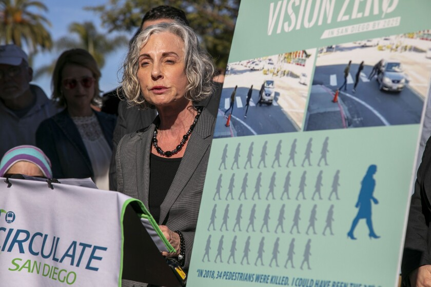 On Tuesday, January 7, 2020, Granowitz held a press conference with the group Circulate San Diego to draw attention to the problem intersection and the number of pedestrian deaths that occur in San Diego each year.