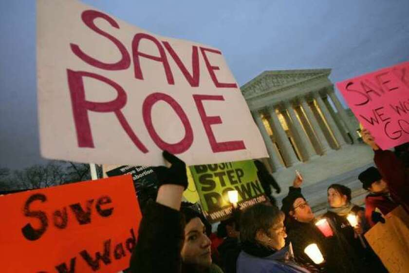 The U.S. Supreme Court, where pro-reproductive rights supporters held a candlelight vigil in 2005.