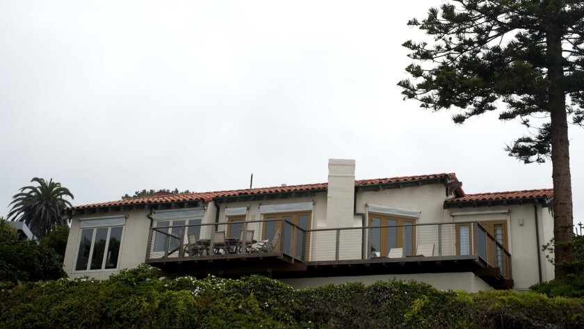 View from the beach of the 3,009-square-foot Romney home in La Jolla , which the GOP contender plans to demolish and replace with an 11,062-square-foot home.