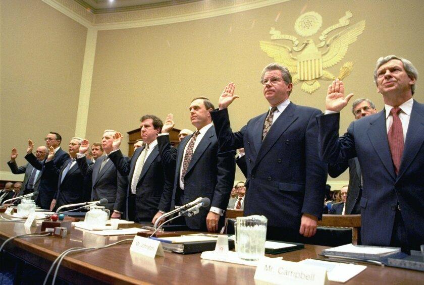 Tobacco executives in Congress