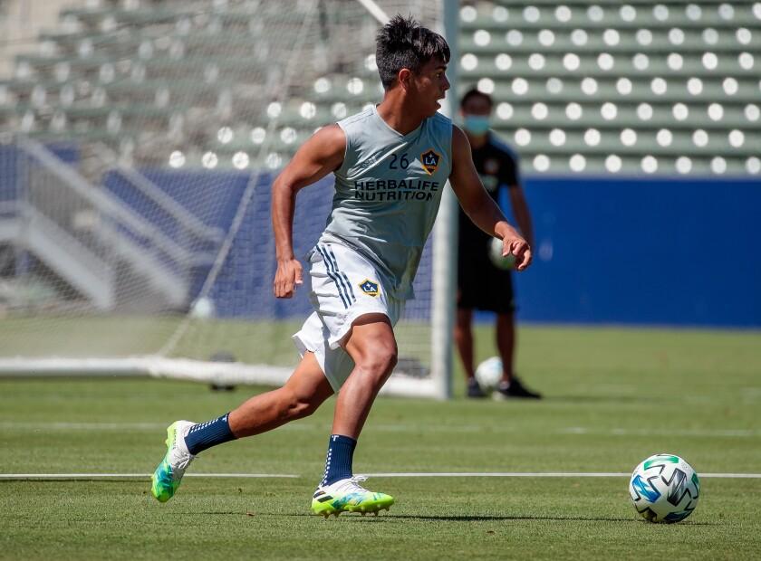 2020 Season: LA Galaxy return to full team training at Dignity Health Sports Park on June 12, 2020.
