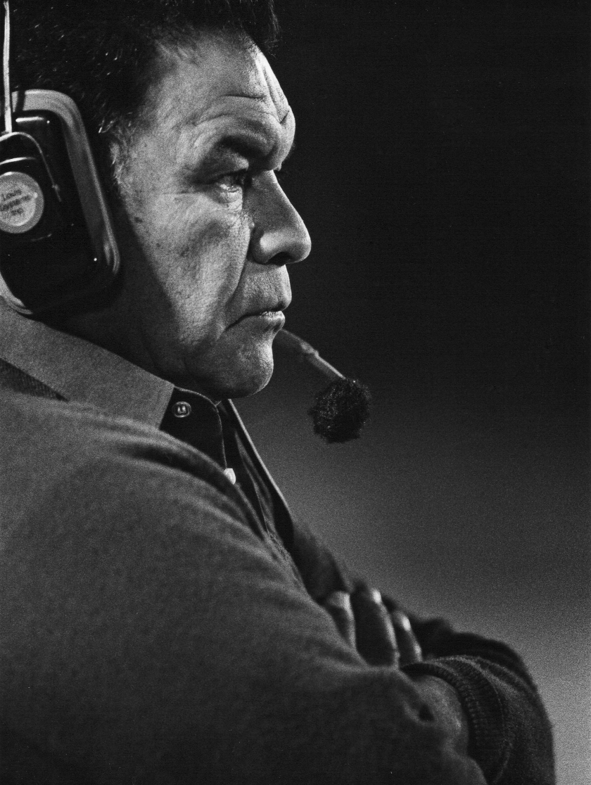 East Los Angeles football coaching legend Al Padilla on the sideline in an undated photo.