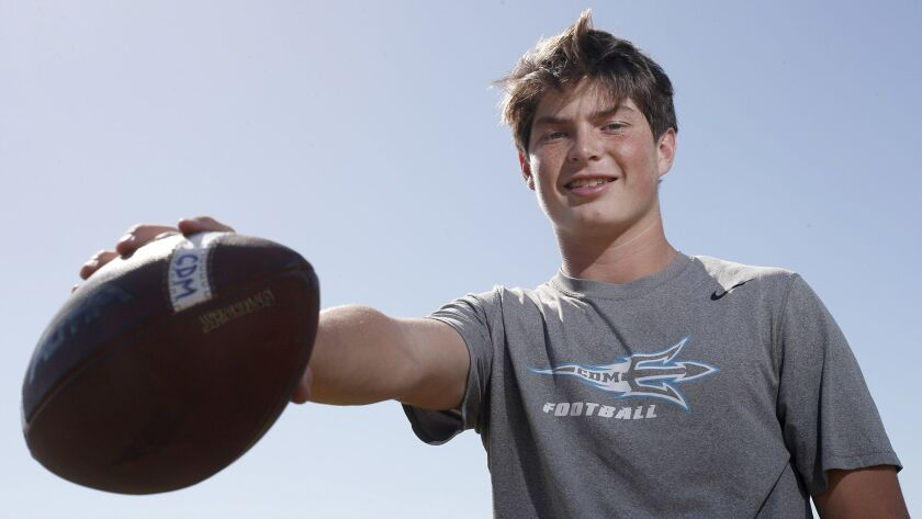 Corona del Mar High junior quarterback Ethan Garbers is the Daily Pilot High School Football Player