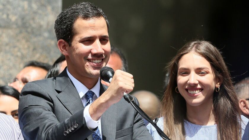 Juan Guaidó Self-proclaimed Interim President of Venezuela Meeting With Deputies and the Media