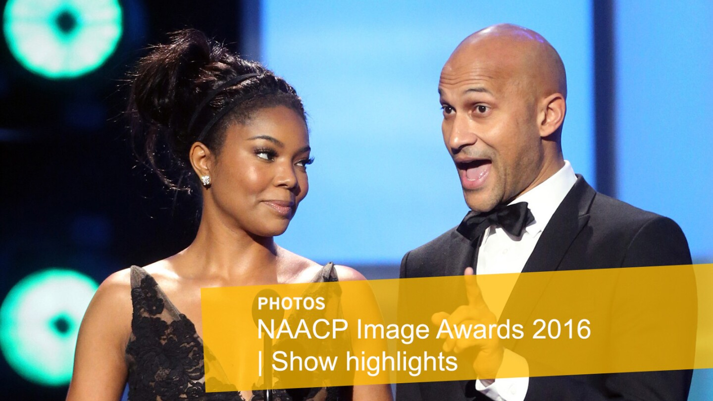 Actors Gabrielle Union, left, and Keegan-Michael Key ignite laughs onstage.