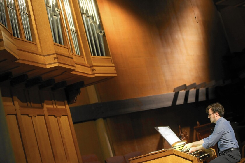 Richard Valitutto plays the pipes at Neighborhood Unitarian Universalist Church, one of a couple of recent recitals in the area.