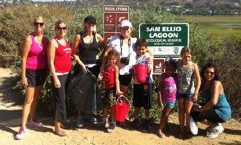 Coastal Cleanup: Tamera Surovchak, Abigail Carrington, Janel Maud, Ella Desai, Susanne Desai, Rohan Desai, Mia Valentine, Tessa Maud and Amanda Valentine.