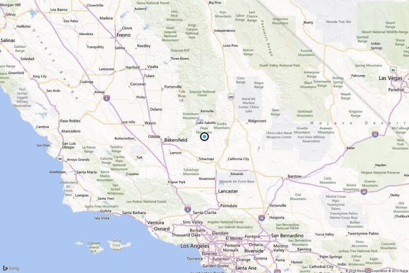 Earthquake: 3.5 quake strikes near Bodfish