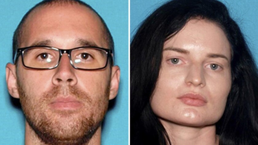 This combination of undated photos provided by the San Bernardino County Sheriff's Department shows