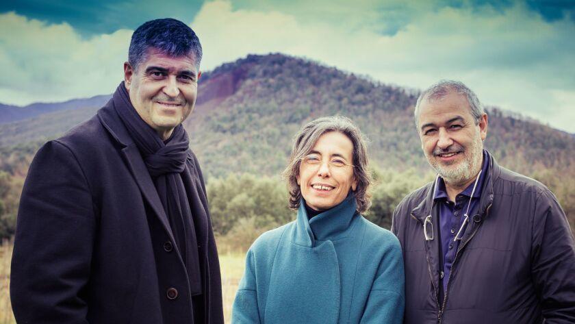The 2017 Pritzker laureates, from left: Rafael Aranda, Carme Pigem and Ramon Vilalta.