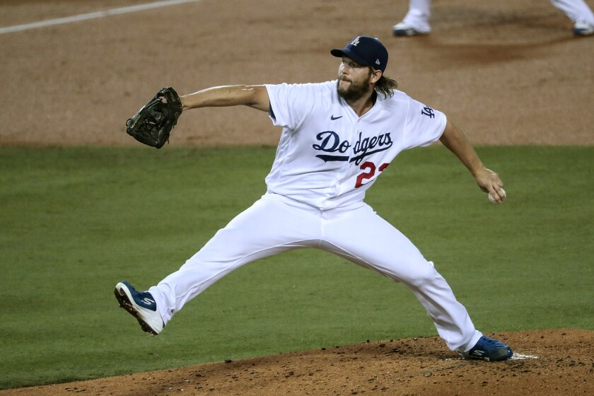 Dodgers starter Clayton Kershaw struck out postseason career-high 13 batters in a 3-0 victory.