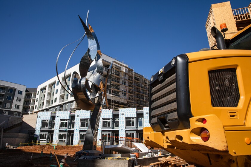 An apartment complex was under construction in Kearny Mesa in February.