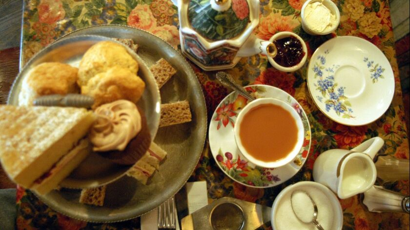 ** FOR IMMEDIATE RELEASE **An afternoon tea table setting is shown at Tea and Sympathy, a small tea