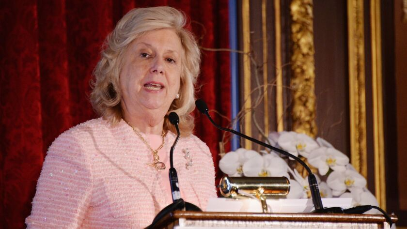 Author Linda Fairstein attends the 12th annual Authors In Kind Literary Luncheon at The Metropolitan Club on April 14, 2015, in New York City. A petition to urge booksellers and Fairstein's publishers to drop her books has gained traction on the website Change.org.