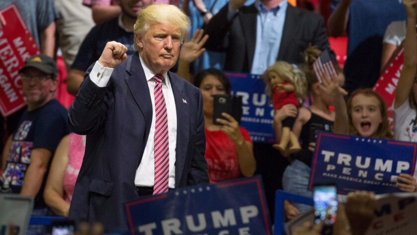 Donald Trump rallies supporters Tuesday in Austin, Texas.