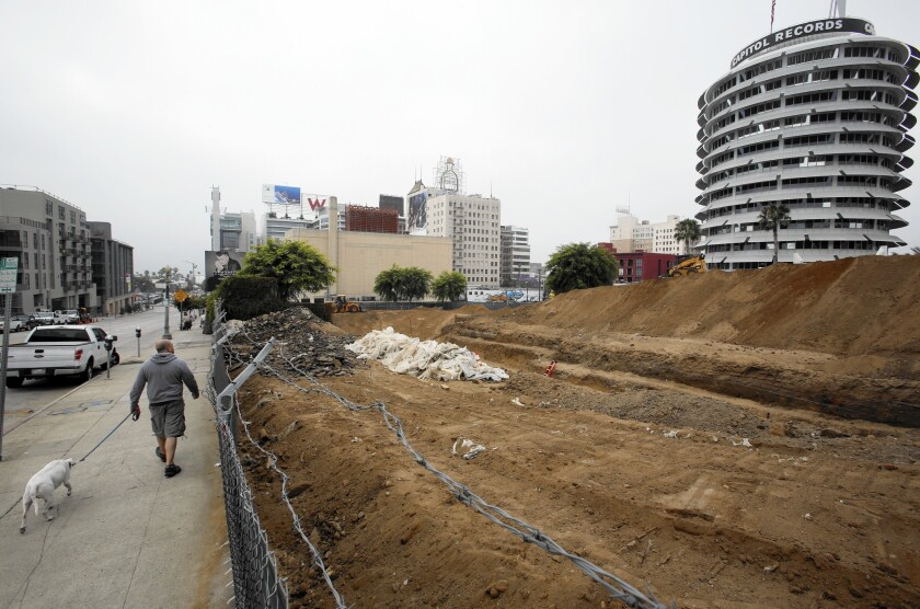 Trench at Millennium Hollywood development