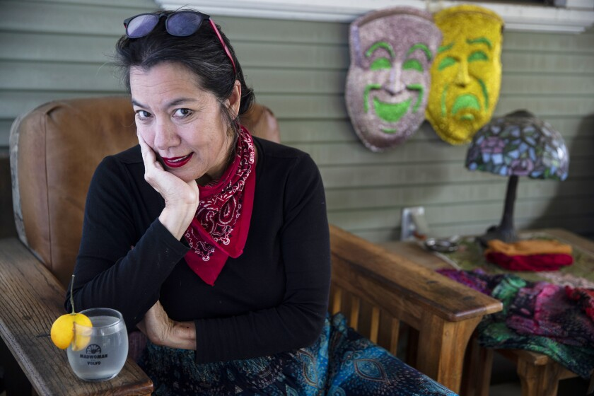 "Sandra Tsing Loh, author of ""The Madwoman and the Roomba"" at home in Pasadena."