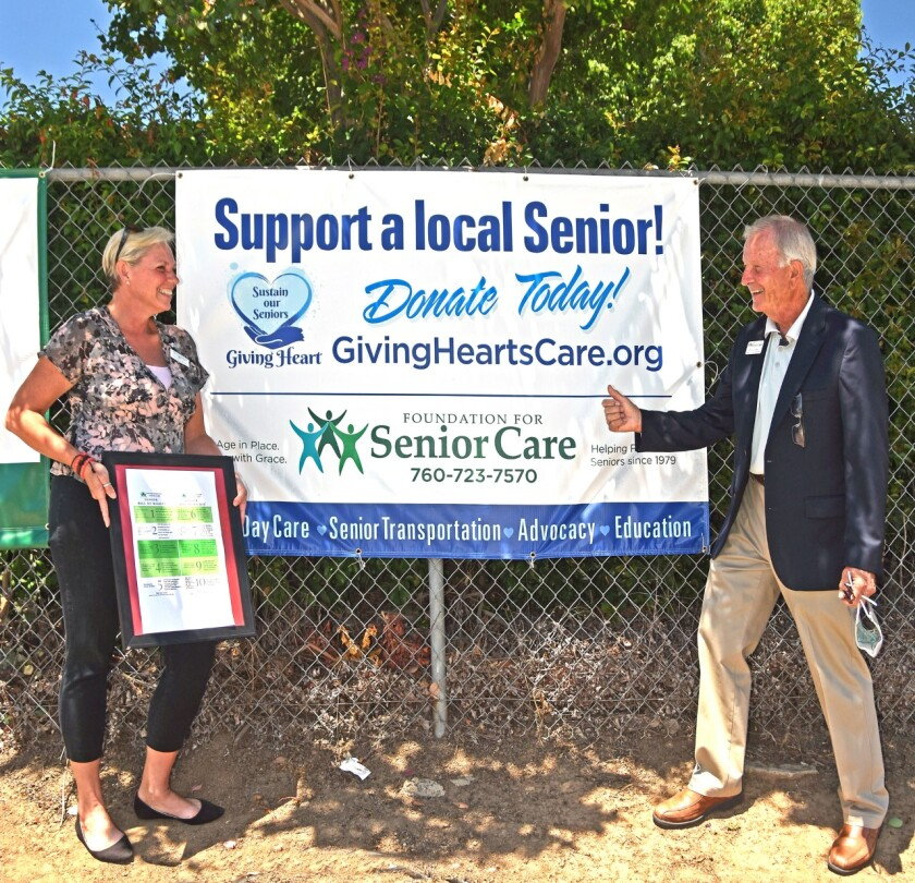 Fallbrook Regional Health District gives first copy of the Seniors' Bill of Rights