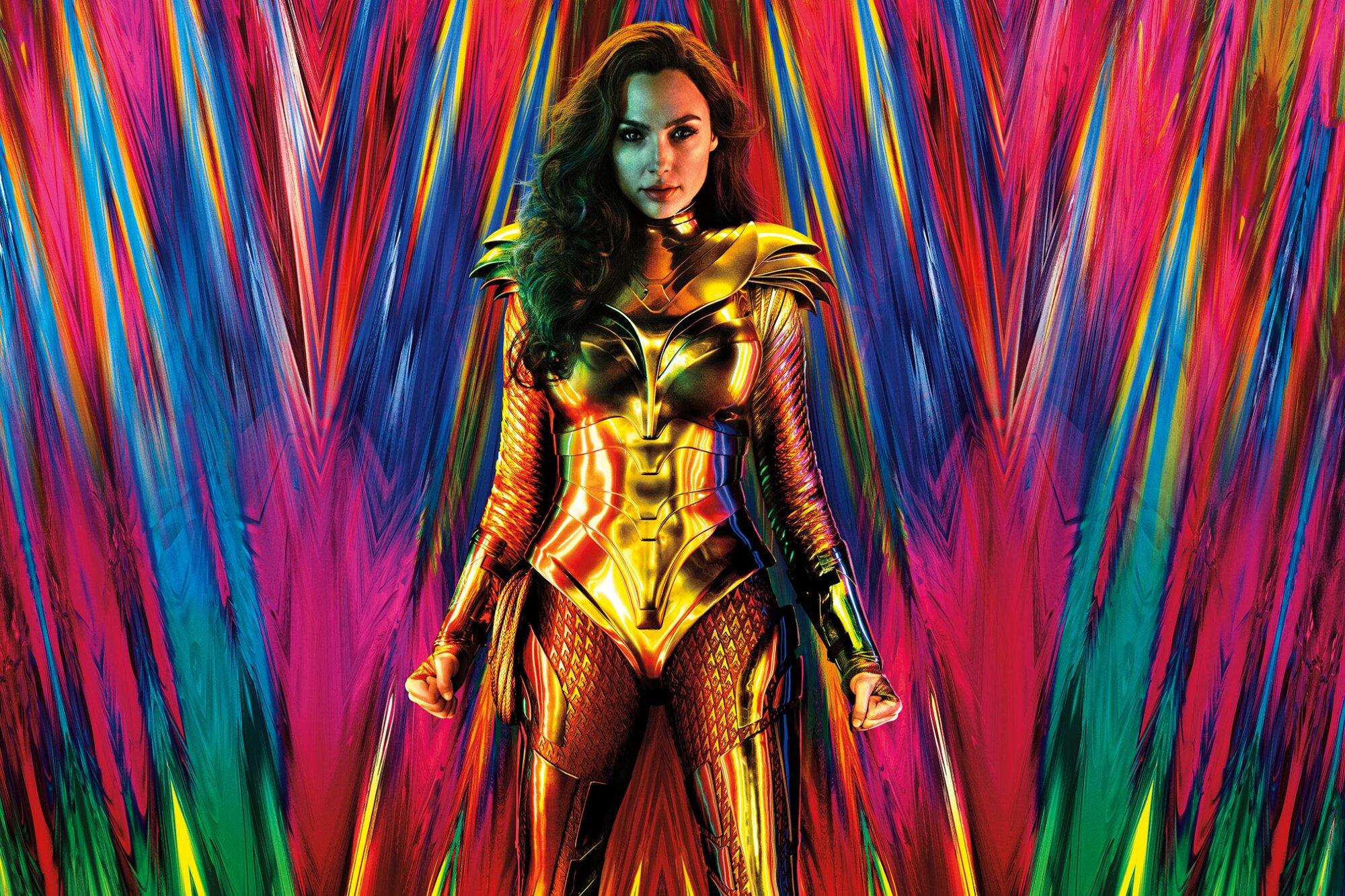 Gal Gadot as Wonder Woman in her gold armor