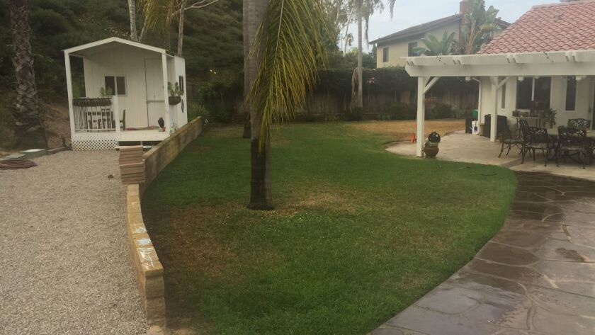 The Lowe family backyard before the makeover.