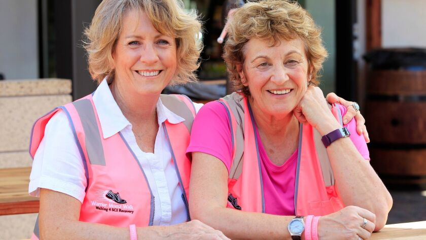 Quad Foundation founder Debbie Flynn, left, with her friend Kay Ledson, who is planning to walk solo