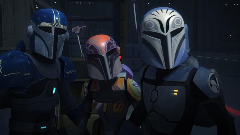 Three warriors in armor