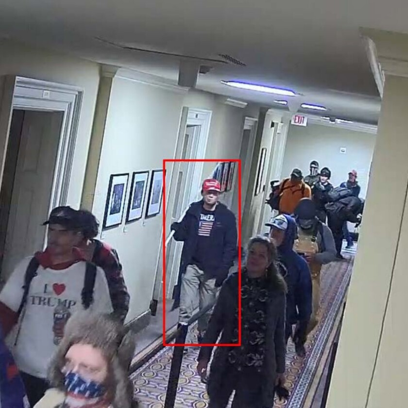 Christian Secor in the U.S. Capitol attacks.