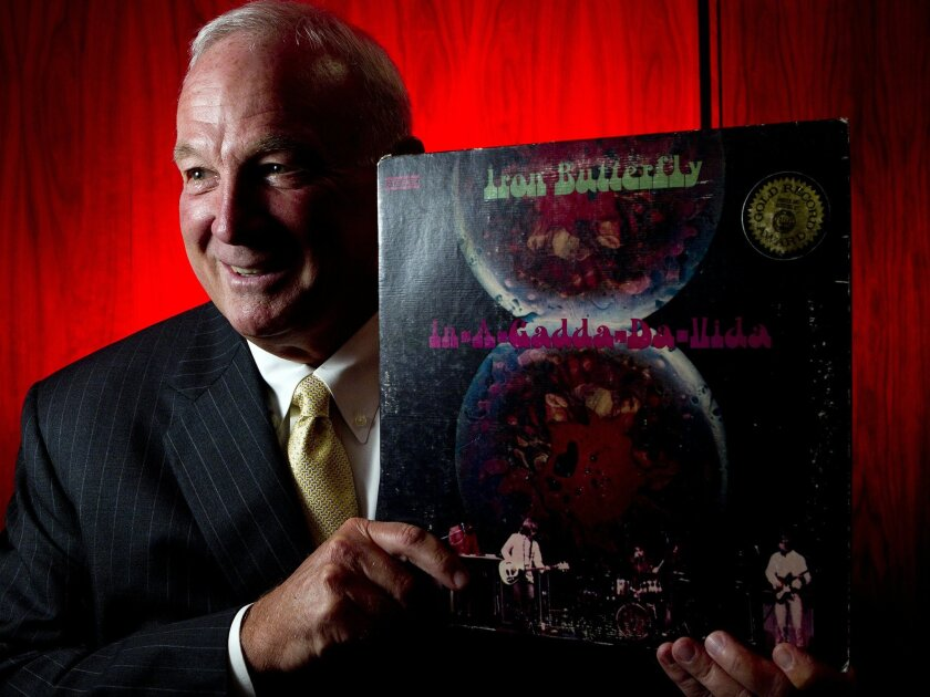 """Mayor Jerry Sanders holds a long-abiding passion for the band Iron Butterfly and,specifically, it's 1968 album, In-A-Gadda-Da-Vida."""" Photo by Earnie Grafton/The San Diego Union-Tribune"""