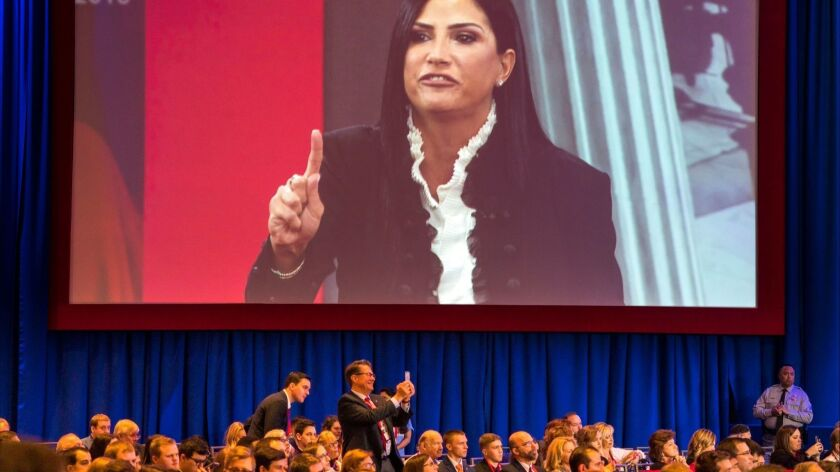 NRA's Dana Loesch speaks at CPAC Conference in Maryland, National Harbor, USA - 22 Feb 2018