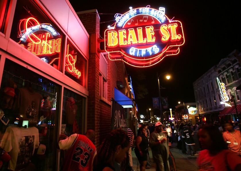 A gift shop on Beale Street, the entertainment hub of Memphis, Tenn.
