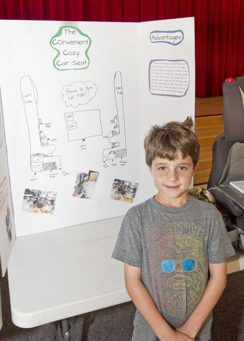 """The Convenient Cozy Car Seat"" by Eytan Davis, 1st grade Ashley Falls School"