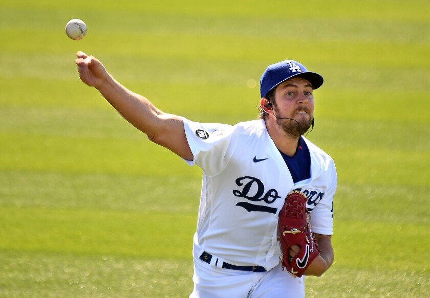 Dodgers pitcher Trevor Bauer has been on paid administrative leave since July 2.