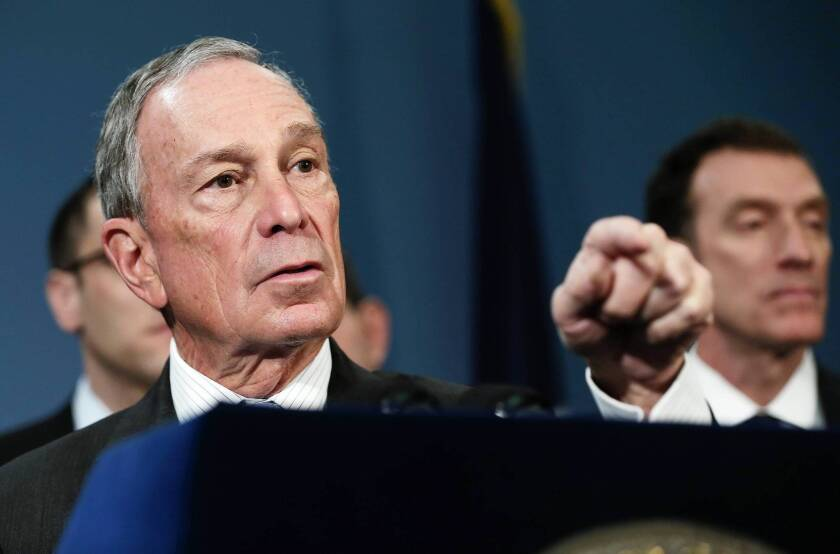 New York Mayor Michael R. Bloomberg has donated $1 million to help preserve a Los Angeles Board of Education majority that has pushed for several controversial efforts that are supported by the L.A. mayor and the superintendent.